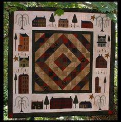 Around the Block-block of the month pattern, house pattern.  Designer Cheryl Walls.