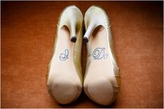 """I do"" on the bottom of your wedding shoes"