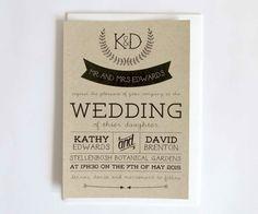Printable Wedding Invitation. Premium DIY by LookLookPrettyPaper