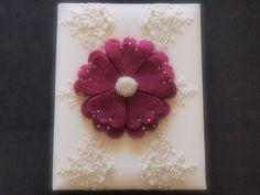 Wedding Memory Album Fuschia Pink Ivory Lace by ArtisanFeltStudio on Etsy