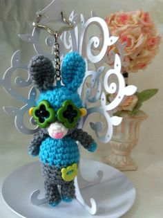 Amigurumi Bunny Crochet Key Chain by MiyakoMYK on Etsy, $22.00
