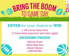 Bring the Boom Sweepstakes