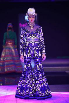 Manish Arora for Delhi Couture Week 2014.  #perniaspopupshop #divine #glamour #style #fashion #chic #trendy #designer #Delhi #Coutureweek #label #love #ManishArora #artistic