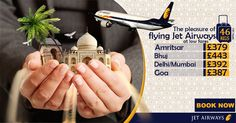 The pleasure of flying jet airways at low fares  | Airline :- ✈ Jet Airways ✈  |  Offer Ends  : 27th Jul 2016  |  ⛳ Destinations & Fares   | Amritsar £379  | Bhuj £443  |Delhi/Mumbai £392  | Goa £387   |  Special Baggage  Allowance 46kgs   |   Call us: 0203 811 2447  |  Visit for more details : http://www.callcheapflights.co.uk/  |  #callcheapflights ✈ #worldtravel  #callnow  #booknow  #india #jetairways ✈ #bookcheapflights #cheapflightstoindia#travelagentsinuk