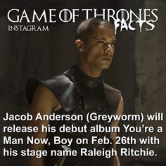 Raleigh Ritchie, Game Of Thrones Instagram, Rory Mccann, Game Of Thrones Facts, Game Of Trones, Stage Name, Debut Album, Behind The Scenes, Fandoms