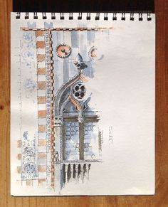 This is a great example of sketches where I wish I knew who penned it. http://urbansketchers-chicago.blogspot.com/2014/07/tuesday-tips-tricks-all-important-first.html