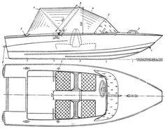 Общее расположение моторной лодки «Косатка»