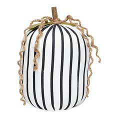 """We're getting a total BeetleJuice vibe from this cool, striped pumpkin! Plush Striped Pumpkin, 7"""""""