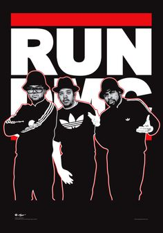 RUN DMC. rap hip hop. http://www.pinterest.com/TheHitman14/music-poster-art-%2B/