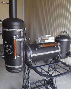No photo description available. Bbq Pit Smoker, Barbecue Smoker, Bbq Grill, Custom Bbq Smokers, Custom Bbq Pits, Homemade Smoker, Homemade Bbq, Gas Bottle Bbq, Oil Drum Bbq
