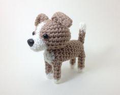 Amigurumi Italian Greyhound Stuffed Animal Handmade Blue Fawn Crochet Dog / Made to Order
