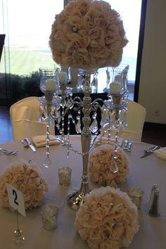 Flower Chandelier Centerpiece.