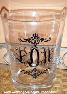 DIY Monogrammed glassware (glass paint pen)