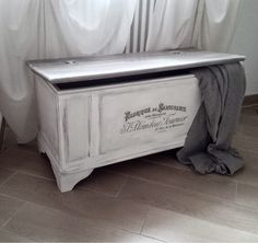Pennellate Artistiche: Cassapanca shabby chic / shabby chic box