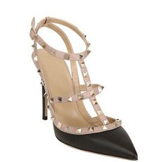 Mary Janes COUTURE de LUXE Nappaleder Sling Stud Rock Design 58