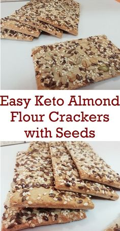 These gluten-free, keto crackers are not just deliciously crispy. Pairing these crackers with salted meats, hard cheese makes a fancy snack. The post Keto Almond Flour Crackers appeared first on Diet. Keto Crackers Recipe, Low Carb Crackers, Gluten Free Crackers, Homemade Crackers, Healthy Crackers, Low Carb Bread, Low Carb Keto, Keto Snacks, Snack Recipes