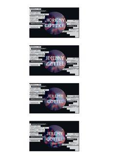 Propositions Carte De Visite Pour JeremyC By Camille Brogniart