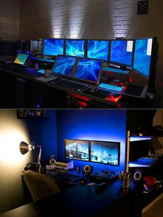 24 Awesome Computer Workstations More at http://atechpoint.com/ #tech #atechpoint office game room