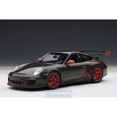 PORSCHE 911 (997) GT3 RS 3.8 (GREY BLACK/GUARDS RED STRIPES) 2010