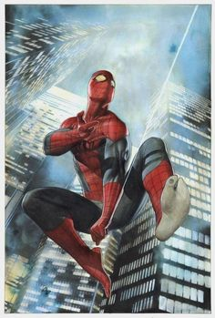 Superior Spiderman #1 - Variant cover painted by Adi Granov Comic Art