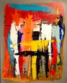 Abstract acrylic on canvas by W Joe Adams 24X30.  SOLD
