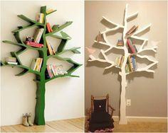 hacer estanteras de madera en forma de rbol