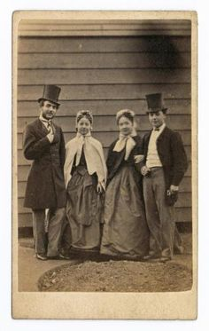 Two unidentified men and women