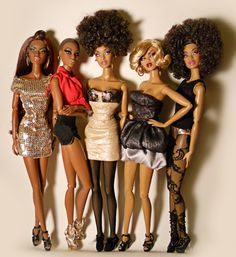 Fashionable Black Barbies