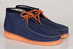 MF Doom x Clarks Originals Wallabee Navy & Orange