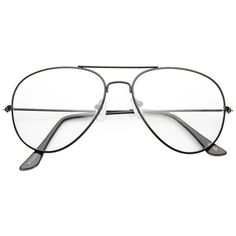 924d3737072 zeroUV Nickel Plated Tear Drop Wire Frame Basic Metal Clear Lens...  (155.910 VND) ❤ liked on Polyvore featuring accessories