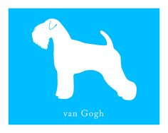 Personalized Soft Coated Wheaten Terrier Silhouette Print with Custom Name