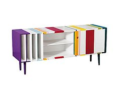 CONSOLLE IN MDF TRIP-FIFTIES RIGHE - 166x74x47 cm   Dalani Home & Living