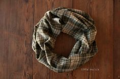 Olive Green Tan & Navy Blue Oversized  Plaid by LittleMaisie