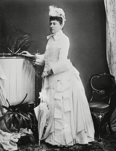 Beatrice in her going away outfit after her wedding