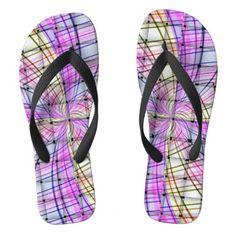 Plaid Weave Flip Flops