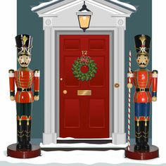 Life Size Toy Soldier and Toy Soldier w/Baton 6.5 ft H. These Christmas Toy Soldiers are great...larger than life! What a splash they will make either side of your front entrance... $1,599.00 Ocean shipping available.
