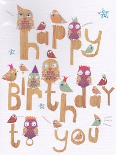 Owl Birthday card available from our store
