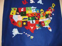 United States map (felt quiet book idea)