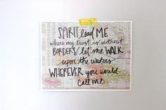 Oceans by Hillsong // Hand Lettered Print by sunmoondesign on Etsy, $30.00