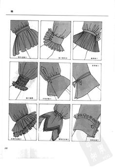So many great ways to make sleeves! That makes me too … - DIY Clothes Ideas Sleeves Designs For Dresses, Sleeve Designs, Fashion Design Drawings, Fashion Sketches, Fashion Design Sketchbook, Fashion Sewing, Diy Fashion, Arab Fashion, Sewing Clothes