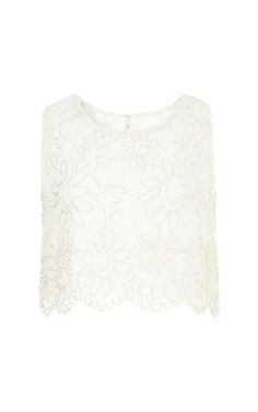 Corded Lace Top by Gregory Parkinson for Preorder on Moda Operandi