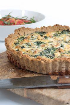 Huis, tuin en keukenvertier: Quiche met spinazie of snijbiet en blauwe kaas