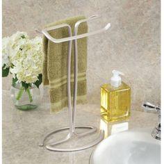 Better Homes & Gardens Satin Countertop Hand Towel Holder, 1 Each Towel Holder Stand, Towel Holder Bathroom, Hand Towels Bathroom, Bathroom Vanities, Bathroom Ideas, Master Bathroom, Bathrooms, Design Bathroom, Free Standing Towel Rack