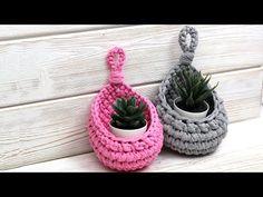 Diy Crochet Plant Holder Pattern By Resc - Diy Crafts - maallure Crochet Cozy, Crochet Motifs, Crochet Patterns, Knitting Patterns, Crochet Basket Pattern, Knit Basket, Handmade Headbands, Handmade Crafts, Handmade Rugs