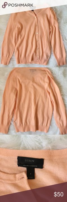 J. Crew Cashmere Women's small. Excellent condition. Baby pink J. crew Cashmere Cardigan. J. Crew Sweaters Cardigans