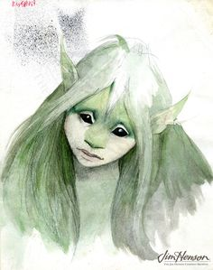 Brian Froud's Kira concept for The Dark Crystal.  www.BBPCreations.com