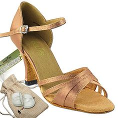Ladies Women Ballroom Dance Shoes from Very Fine C1650 Beige Leather 3 Heel