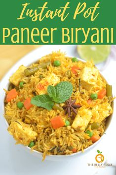 Instant Pot Paneer Biryani is a flavored rice and paneer dish. This recipe for Instant Pot paneer pulao gives you restaurant taste in your own home. Vegetarian Dish, Vegetarian Recipes, Cooking Recipes, Rice Recipes, Curry Recipes, Cooking Tips, Recipies, Paneer Biryani, Paneer Dishes