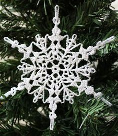 Sparkly Crochet Snowflake Ornament Sparkly Crochet Snowflake Ornament All Free Christmas Crafts- Fre Crochet Christmas Decorations, Crochet Ornaments, Snowflake Ornaments, Christmas Snowflakes, Crochet Crafts, Christmas Crafts, Homemade Christmas, Free Crochet, Homemade Ornaments