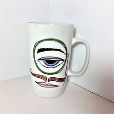 Starbucks 2016 Eye with Monocle Man Mustache Lips Blue Eye Mug 16oz #Starbucks